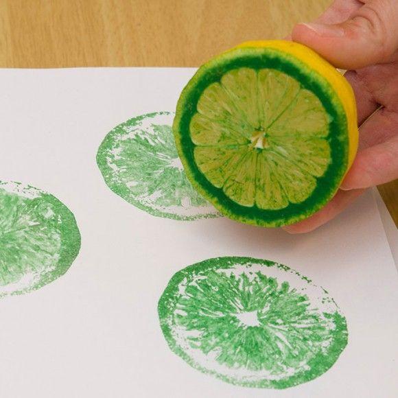 Штампы из фруктов