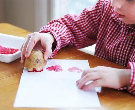 Штампы из картошки