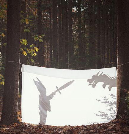 Мальчик и фантазия дракона