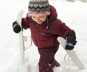 Ребёнок и лыжи